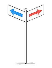 方角の標識素材