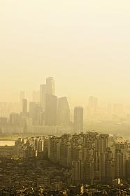 南山から見たソウルの街並み ソウル
