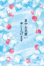 氷とクリームソーダの暑中見舞い