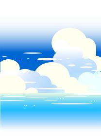 青い海と夏空の積乱雲