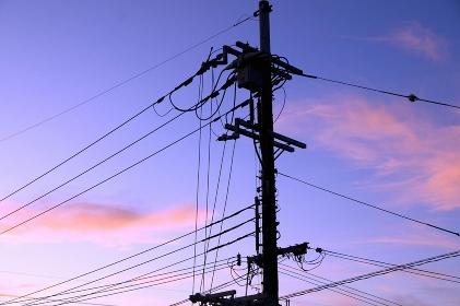 電柱と送電線