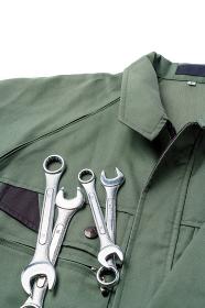 作業服と工具