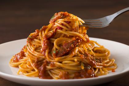スパゲッティ 蟹と蟹みそのトマトソース