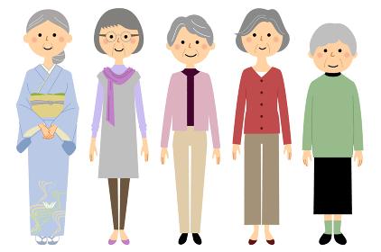 シニア 高齢者 おばあちゃん達