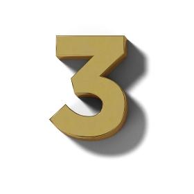 リアルな木製の文字ブロックの3