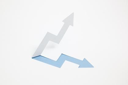 増収・上昇のイメージ (※A・青色)