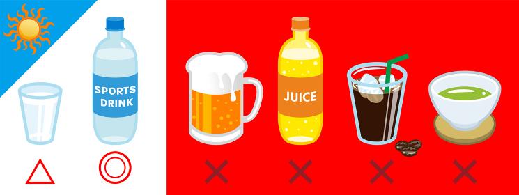 熱中症予防に良い飲み物と悪い飲み物