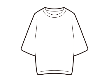 チュニックTシャツの線画のイラスト