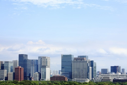 東京都心と空