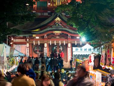 富岡八幡宮 初詣 夜景