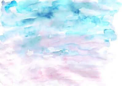 朝焼けのイメージの水彩テクスチャ