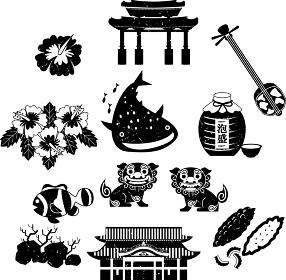 沖縄 旅行 観光 イラスト