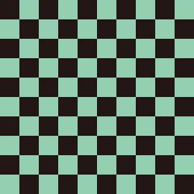 市松模様 黒×緑 L 6