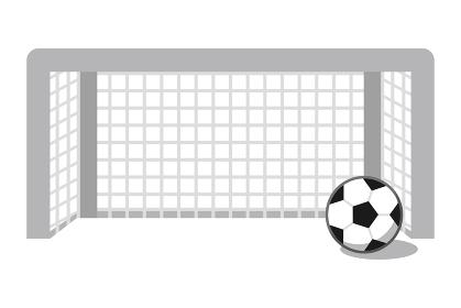 サッカーゴールとサッカーボール