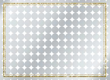 背景 メタリック シルバー フレーム ゴールド