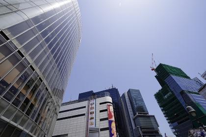 渋谷スクランブル交差点近辺のビル群