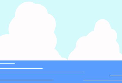 海と入道雲の夏の風景の背景イラスト