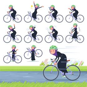 flat type Arab women_road bike