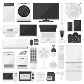 電化製品、家電のイラストセット