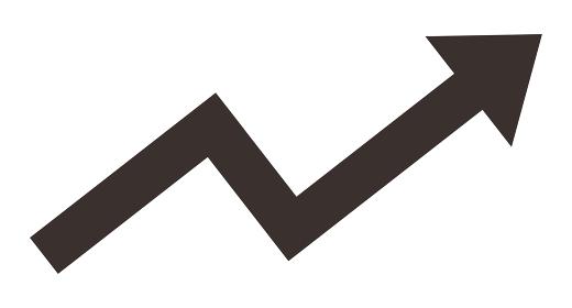 上昇する矢印