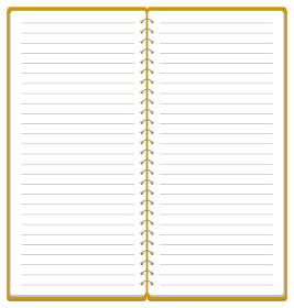 スケッチブック リングノート フレーム イラスト ※A4の三つ折りサイズ2ページ分 ベクター