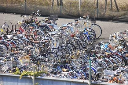 違法駐輪で撤去された自転車の保管場所