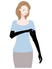 日焼け予防 アームカバー 女性