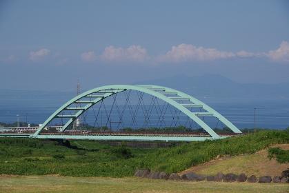 鉄橋と有明海