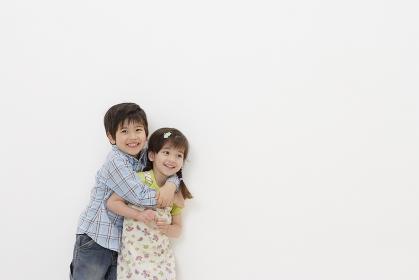ハーフの男の子と女の子