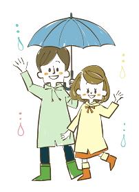 雨の日の夫婦