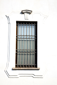 shutter europe  italy  lombardy      in  the milano old   window closed brick      abstract
