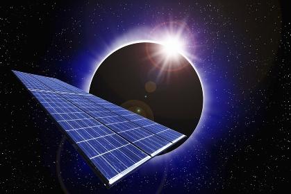 宇宙とソーラーパネル