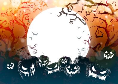 ハロウィン ハロウィーン 背景 カード 水彩 イラスト