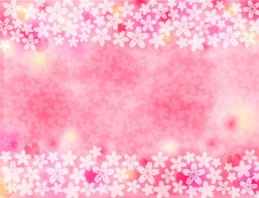 四月の花 桜のパターン背景