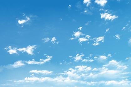 アニメ風の青空と雲