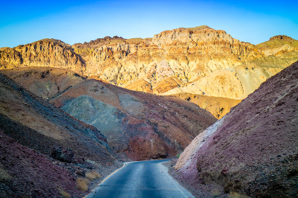 A long way down the road of Death Valley National Park