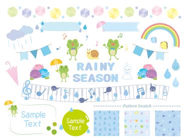 かわいい梅雨のイラスト素材集
