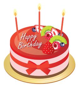 ストロベリーのお誕生日ムースケーキ