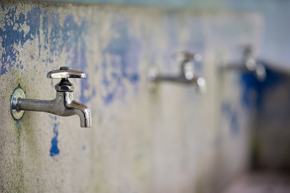 キャンプ場の手洗い場