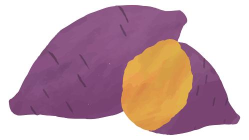 焼き芋 さつまいも イラスト 水彩 素材
