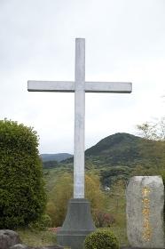 平戸 紐差教会の十字架山