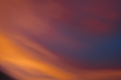 Abstract background Movement of color during sunset