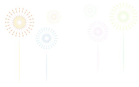 白色(透過)背景の打ち上げ花火