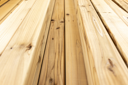 カットされた木材 あおり撮影 5187