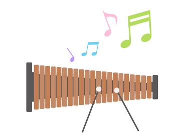 楽器の木琴を演奏するイラスト