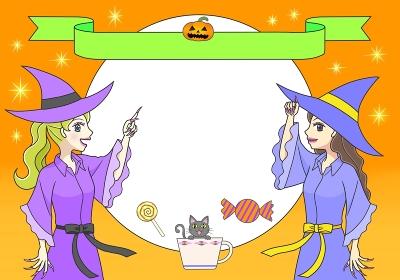 かわいい魔女2人からのハロウィーンの招待状