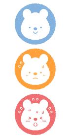 熱中症対策の子供シロクマのアイコンセット