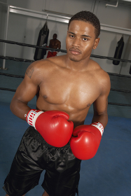 Boxer Ready To Fight In The Boxing Ring