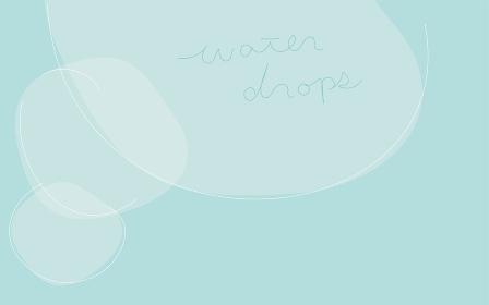 シンプルな線と図形のアブストラクト素材、水滴のイメージ