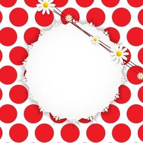 Flora Daisyl Design on Red Background Vector Illustartion EPS10. Flora Daisyl Design Vector Illustartion
